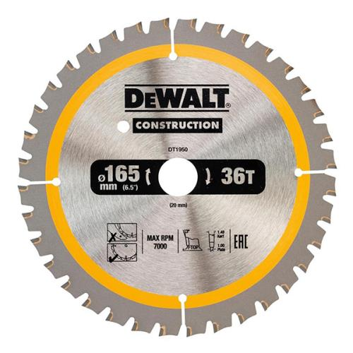 Dewalt 165x20mm 36t Circ Saw Blade