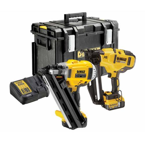 Dewalt Dck264p2 18v Li-ion  Nailer Twin Kit