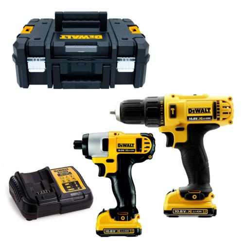 Dewalt Dck218d2t 10v 2pce Kit 2x 2ah Batts