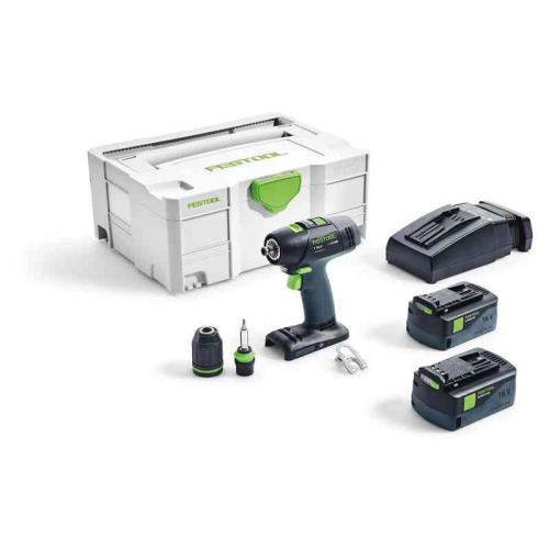 Festool T18+3 Li 5.2ah Plus Gb Drill