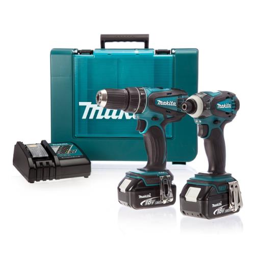 Makita Dlx2012mx 2pc Li-on Combi Kit 4ah