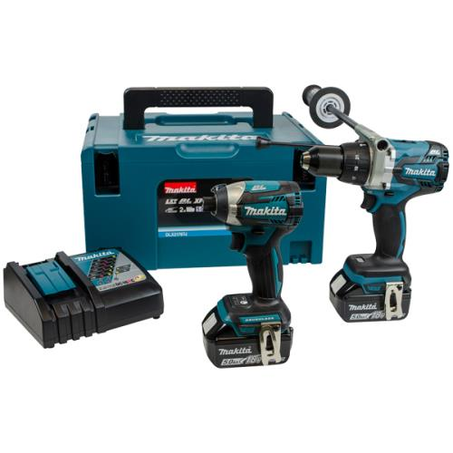 Makita Dlx2176tj 2pc Li-on Combi Kit 5ah