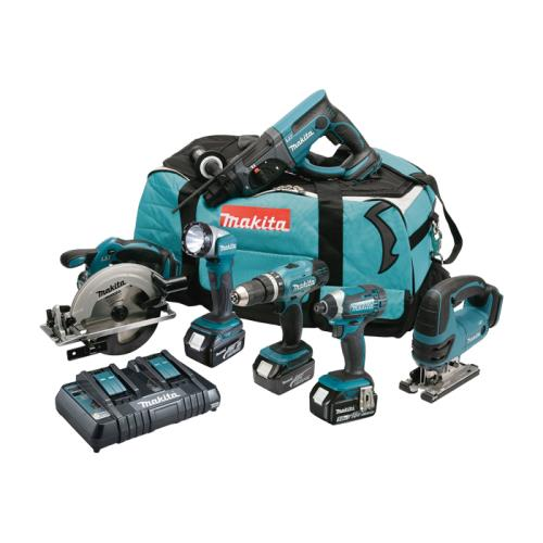 Makita Dlx6068pt 6 Piece Li-ion Combi Kit