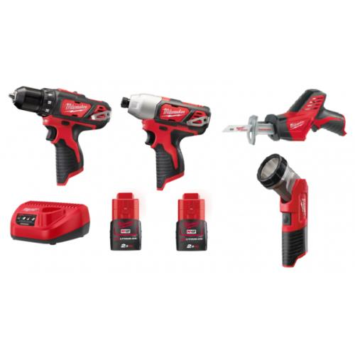 Milwaukee M12bpp4a-202b 12v 4pce Kit