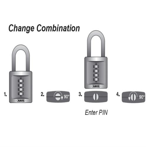 Abus 158 40mm Combi Padlock(3-digit) Carded