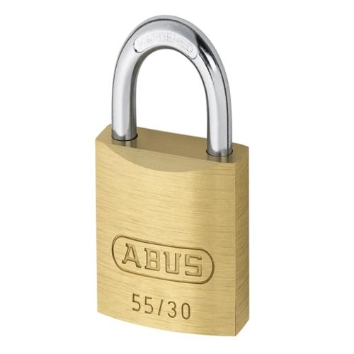 Abus 55 30mm Brass Padlock Carded