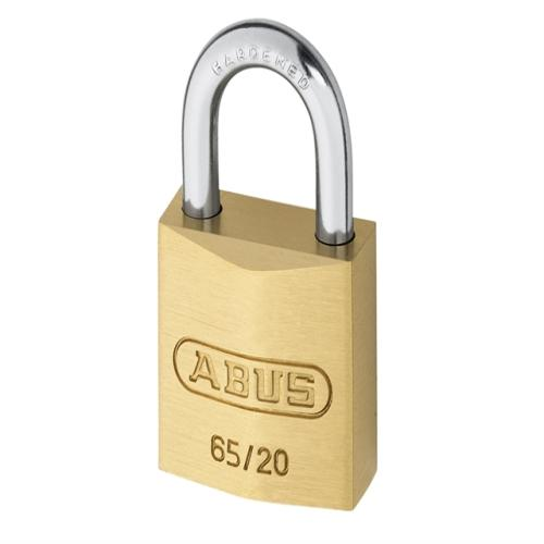 Abus 65 20mm Brass Padlock Carded