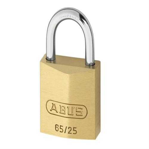 Abus 65 25mm Brass Padlock Carded
