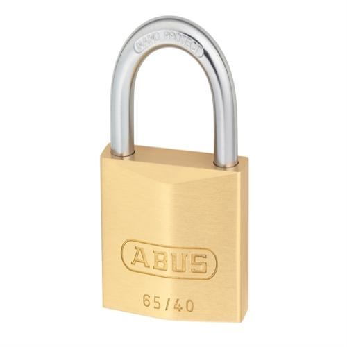 Abus 65 45mm Brass Padlock Carded