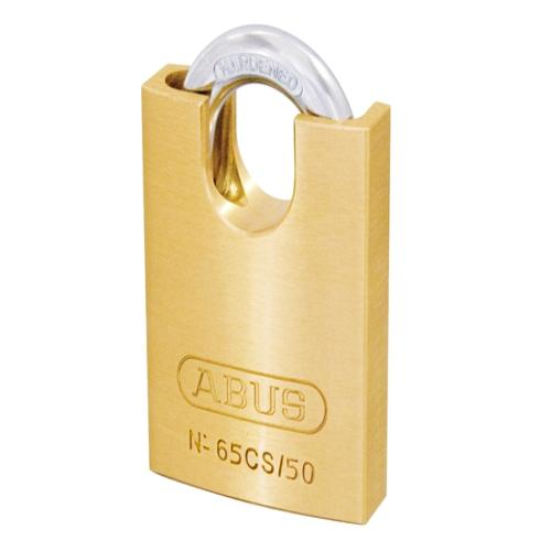 Abus 65 50mm Brass Padlock Close Shackle Card