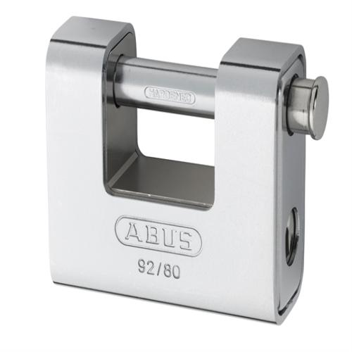 Abus 92 80mm Brass Body Shutter Padlock