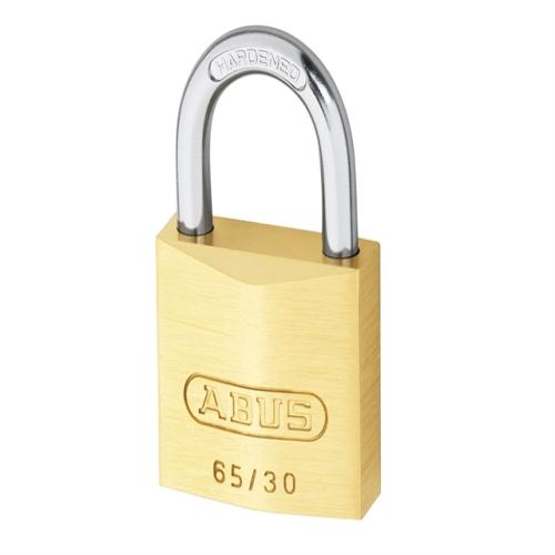 Abus 65 30mm Brass Padlock Keyed 303