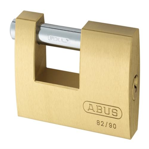 Abus 82 90mm Brass Shutter Padlock Keyed 8521