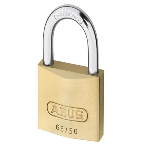 Abus 65 50mm Brass Padlock Keyed 6505
