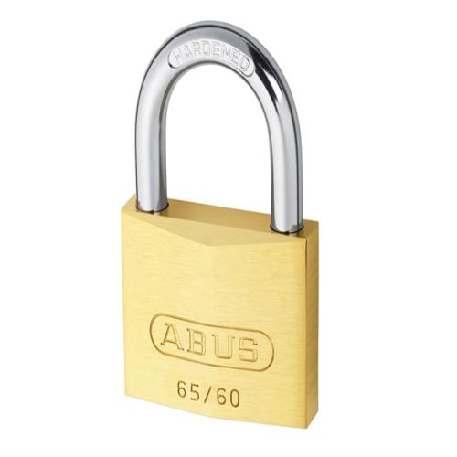 Abus 65 60mm Brass Padlock Keyed 6602