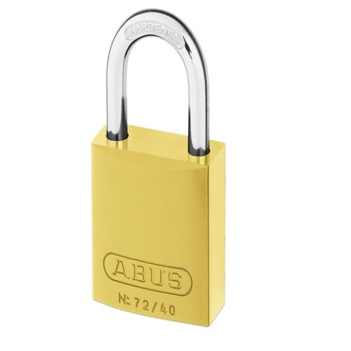 Abus 72 40mm Alu Padlock Yellow Keyed Tt60123