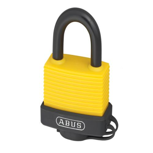 Abus 70al 45mm Alu Padlock Yellow Keyed 6401