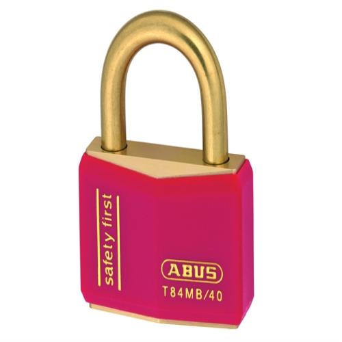 Abus T84mb 40mm Rustproof Padlock Red