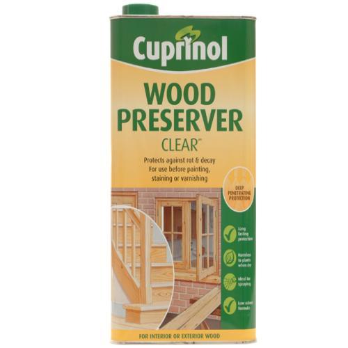 Cuprinol wood preserver clear 5 litre tool britannia Cuprinol exterior wood preserver clear