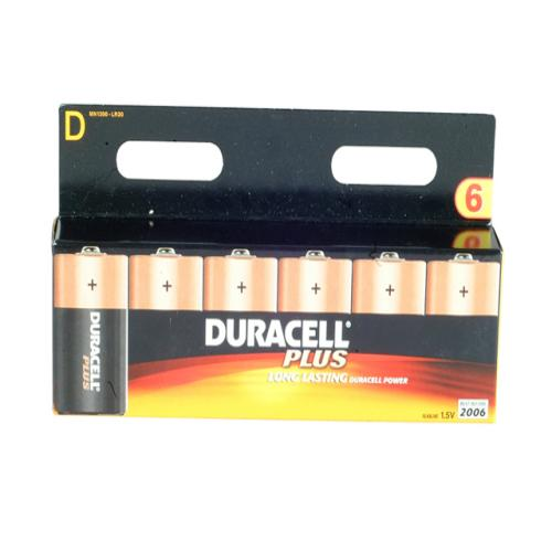Duracell D Cell Alkaline Batteries Pack Of 6