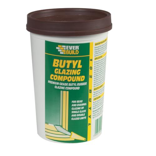 Everbuild Butyl Glazing Compound Brown 2kg
