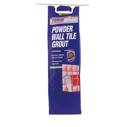 Everbuild White Powder Wall Tile Grout 3kg