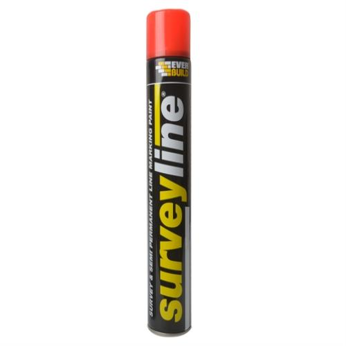 Everbuild Surveyline Marker Spray Red 700ml