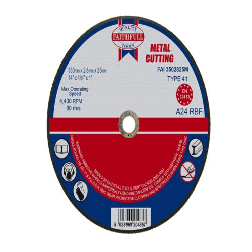 Faithfull Cut Off Disc 350 X 2.8 X 25mm