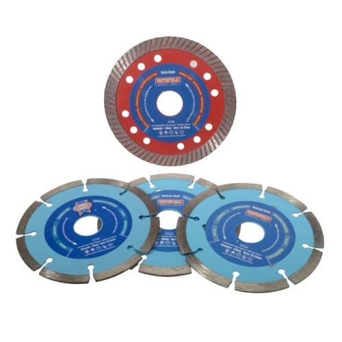 Faithfull 4-piece 115mm Diamond Blade Set