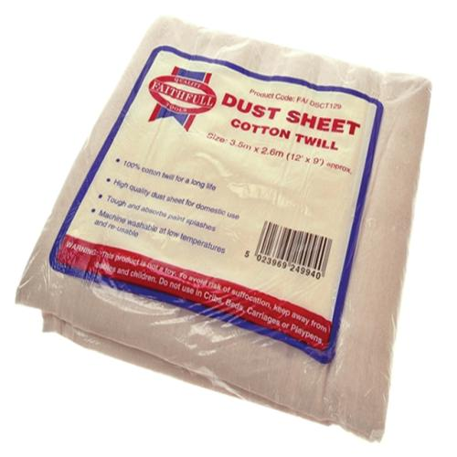 Faithfull Dust Sheet Cotton Twill 12ft X 9ft