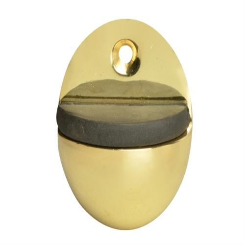 Forge Oval Door Stop Brass Finish 40mm