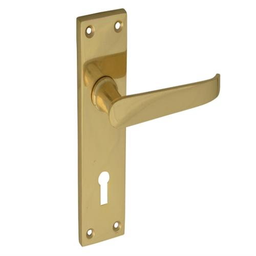 Forge Backplate Handle Lock Straight Victoria