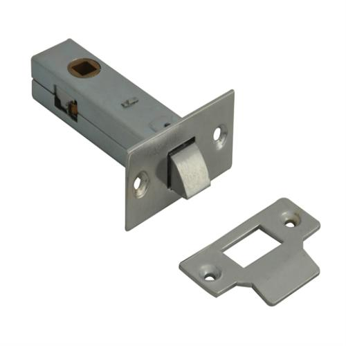 Forge Tubular Mortice Latch Nickel 76mm
