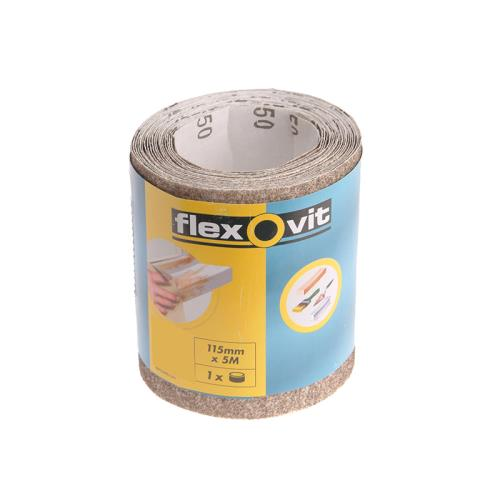 Flexovit Sanding Roll 115mm X 5m Fine 180g