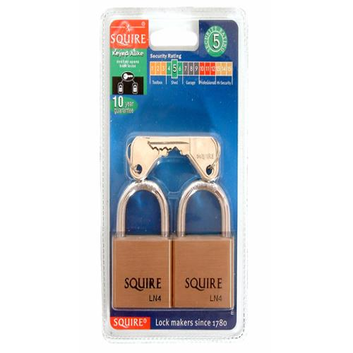 Henry Squire Ln4t Lion Brass Padlocks 5-pin