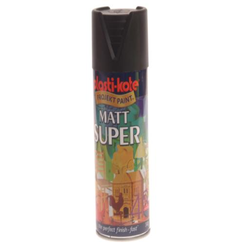 Plasti-kote Super Matt Black 400ml