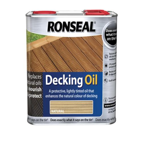 Ronseal Decking Oil Clear 2.5 Litre