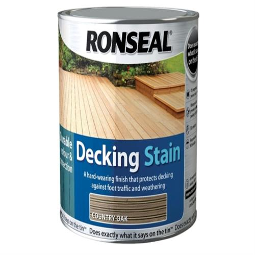 Ronseal Decking Stain Country Oak 5 Litre