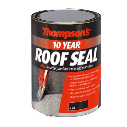 Ronseal Thompsons Roof Seal Black 4 Litre