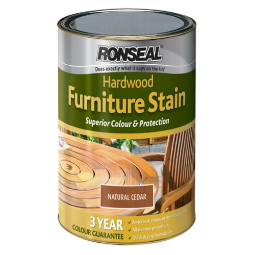 Ronseal Hardwood Furniture Stain Natural Ceda