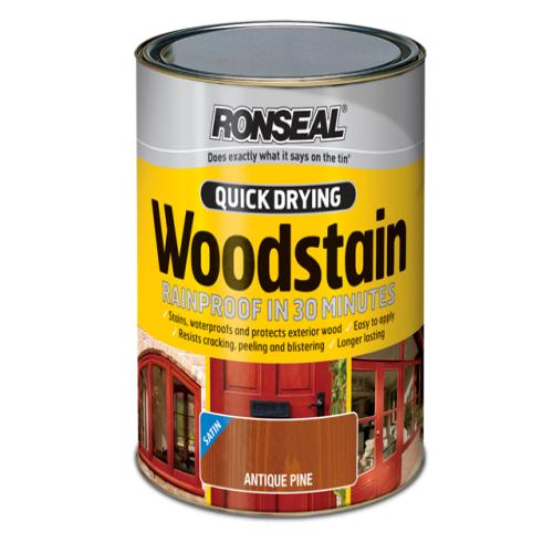 Ronseal Fast Dry Woodstain Satin Dark Oak