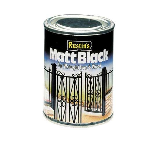 Rustins Matt Paint Black Quick Drying 2.5l