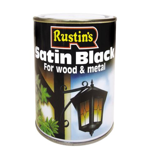 Rustins Satin Black Paint Quick Drying 1l Tool Britannia