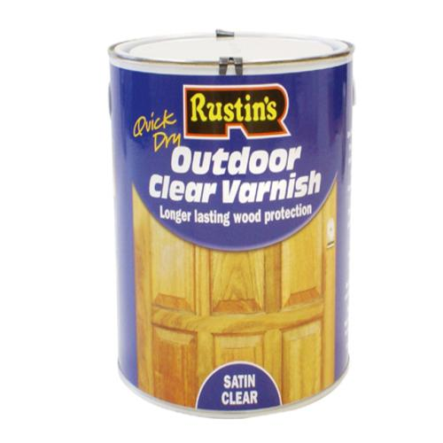 Rustins Exterior Varnish Satin 2.5 Litre