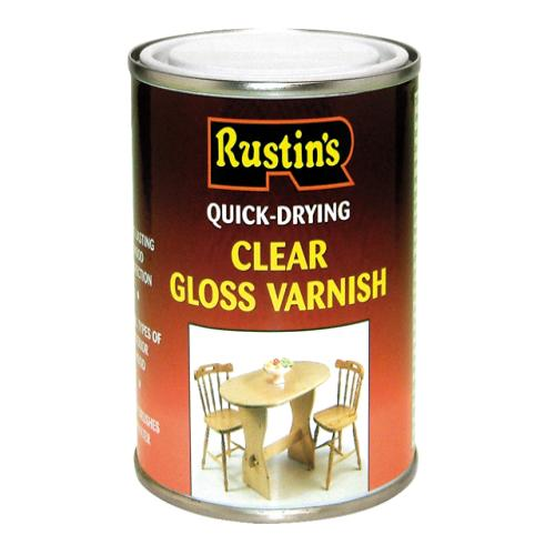 Rustins Quick Dry Varnish Gloss Clear 1 Litre