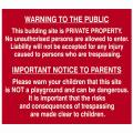 Scan Building Site Warning To Public + Parent