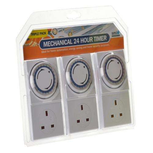 Smj Basix 24h Mechanical Plug In Timer 3 Pack