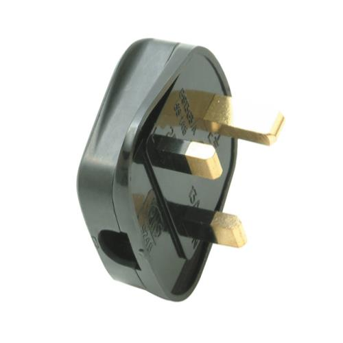 Smj 13 Amp Fused Plug (trade Pack Of 20)black