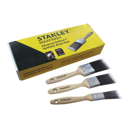 Stanley Maxfinish Adv.3pc Paint Brush Set