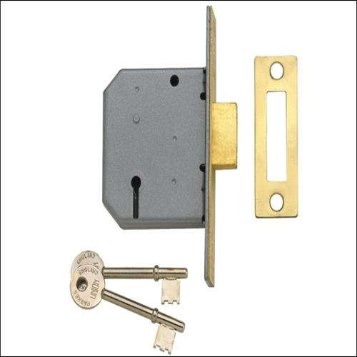 Union 2177 Deadlock Polished Brass 2.5
